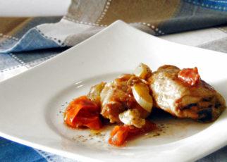 pollo zucchine pomodorini