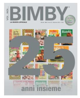 copertina rivista Bimby settembre 2018