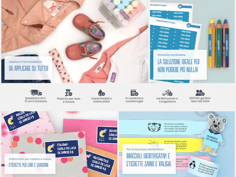 Stickerkid etichette adesive braccialetti antismarrimento bambini