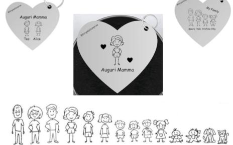 festa della mamma cuore plexiglass original surprise