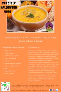 Speciale Halloween 2019 - DA 0 A 14 - ricetta crema di zucca e ceci con taralli croccanti