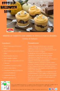 Speciale Halloween 2019 - DA 0 A 14 - ricetta mostri in vasetto con crema di zucca e pan di spagna al cioccolato