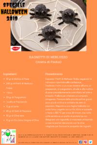 Speciale Halloween 2019 - DA 0 A 14 - ricetta ragnetti di merluzzo