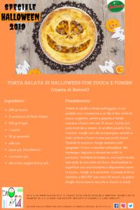 Speciale Halloween 2019 - DA 0 A 14 - ricetta torta salata di Halloween con zucca e funghi