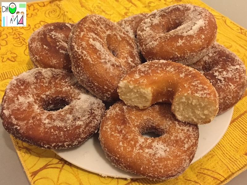ciambelle zuccherate ricetta DA 0 A 14
