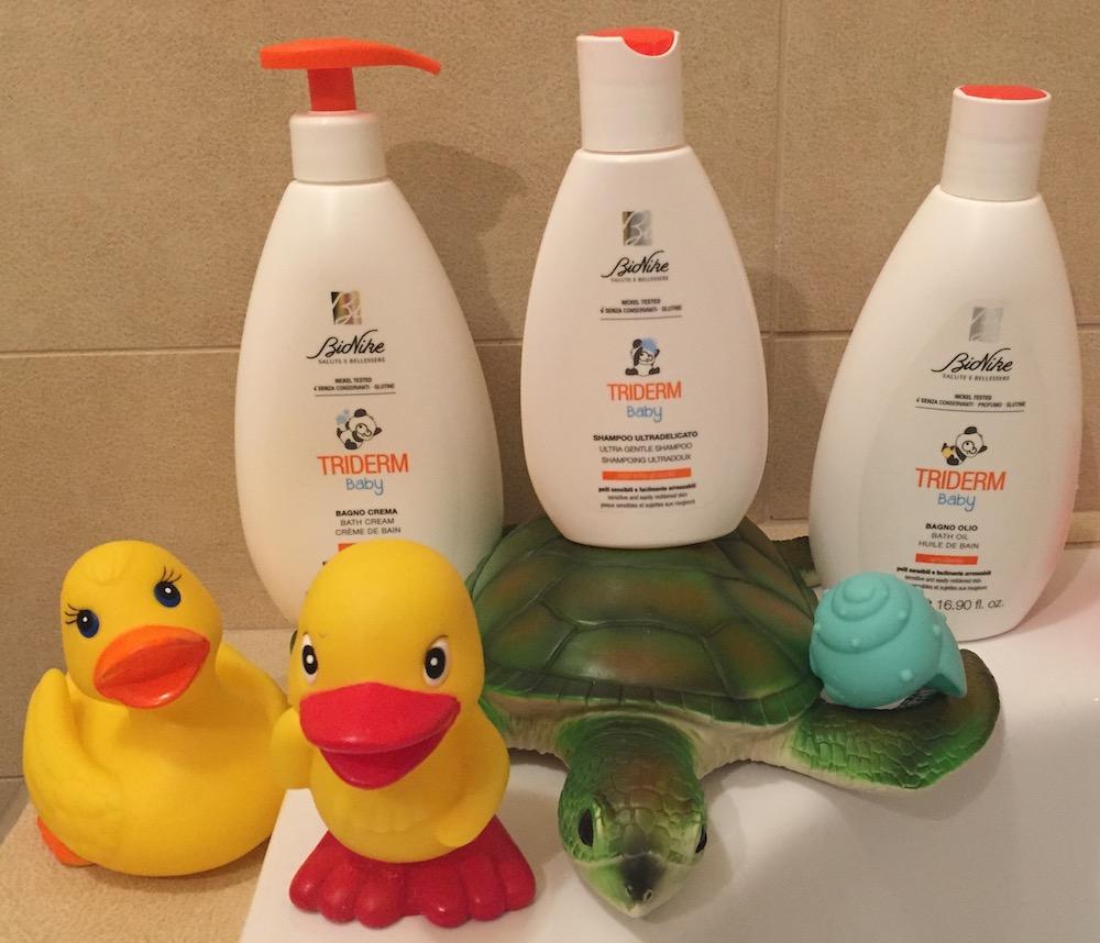 prodotti BioNike Triderm Baby corpo capelli bambini