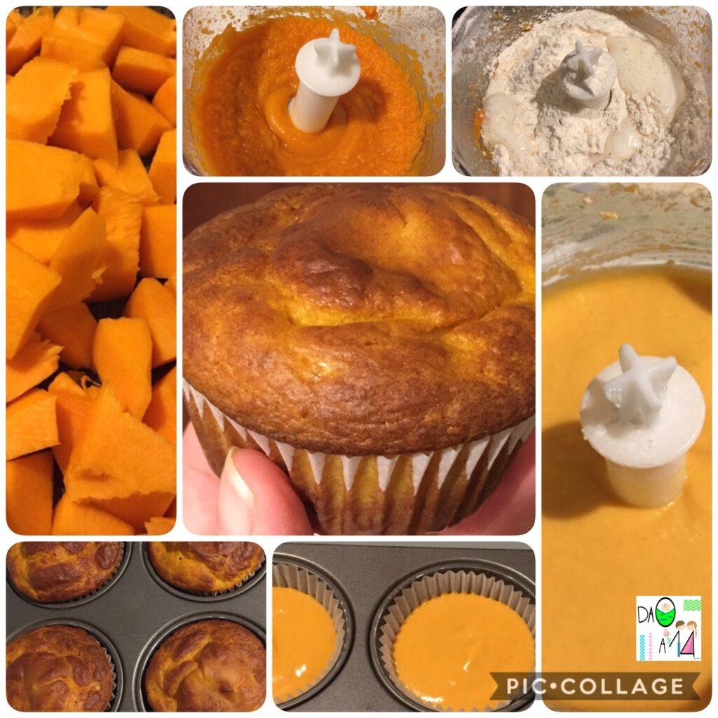 muffin di zucca ricetta procedimento bambini