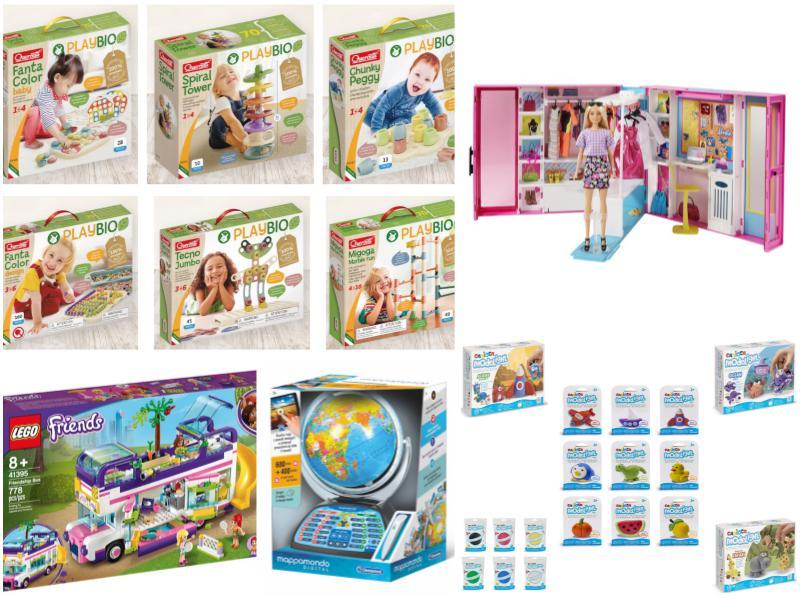 regali di Natale Quercetti Carioca Clementoni Mattel Lego