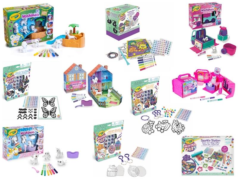 regali Natale Crayola Washimals e Glitter Dots
